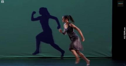 Blue-Journey的投影舞蹈