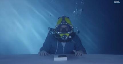 水底開箱影片