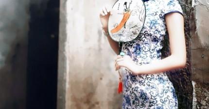 冰雪奇緣艾沙中國風旗袍