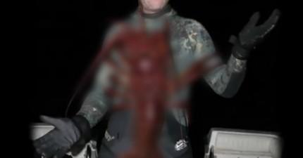 男人在海中發現這個70歲高齡的巨大生物,看到就會讓你大流口水!