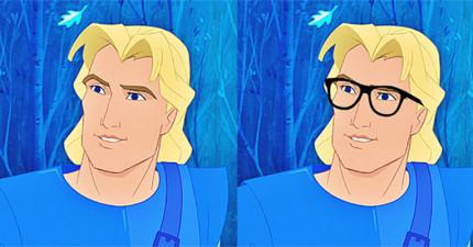 迪士尼男主角戴眼鏡