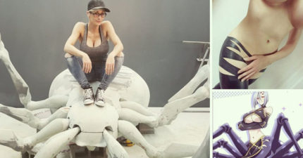 這名性感模特兒挑戰Cosplay「蜘蛛娘拉克涅拉」,完成度超高的成品照讓人只能說「蜘蛛我也可以」!