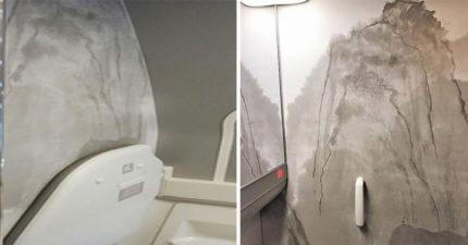 遊客投訴華航飛機廁所漏水發霉很嚴重,「注意一看」設計師都藍瘦香菇了...