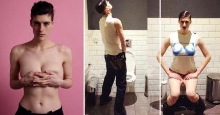 這位時尚模特兒一點都不care「你覺得他是男是女」!他的成功秘訣:「在中間」! (15張圖)