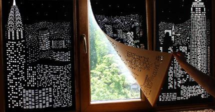 讓你在天亮時也能享受「大都市夜景」的超狂黑窗簾! (12張)