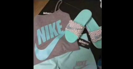 「NIKE衣服+拖鞋」是哪2個顏色?這話題又害全網路瘋掉了!(灰藍?粉白?)