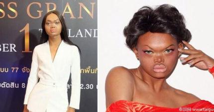 醜到「被社會嫌棄」卻無比自信的泰國女子「終於成為搶手模特兒」,年輕時模樣讓人吃驚!