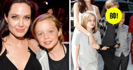 支持女兒想當男孩願望!裘莉、小布開心夏蘿從2歲就開始扮男裝,11歲夏蘿帥氣直逼老爸。