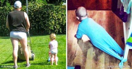 32張媽媽看了會「不准爸爸再碰小孩」的照片 果然男人心裡都住著小孩