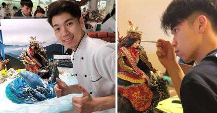 台灣高二生愛上做翻糖蛋糕「每天睡3小時」 「睫毛一根根親手植上」奪世界銀牌