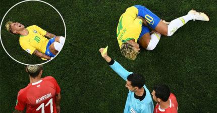 世足/巴西40年紀錄終結!內馬爾單場被瑞士10犯 連襪子都被踢破