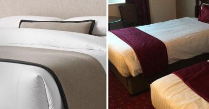 飯店床尾「長長的布」到底有什麼用?老外超愛但日本人:無法想像啊