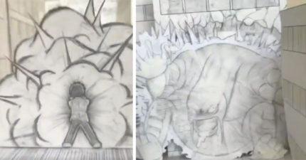 影/日本神人只靠紙筆、手機 創作讓現實與虛構交錯的「手繪動畫」