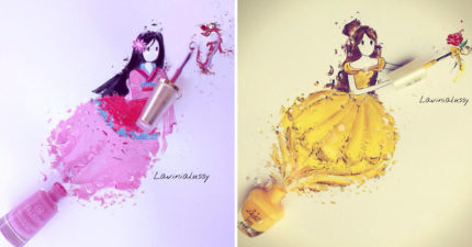 25個「打翻指甲油才能完美變身」的彩繪迪士尼公主