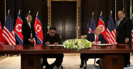 川金會/金正恩川普「暖烘烘友誼」 文件簽署曝光:北韓願意放棄核武!