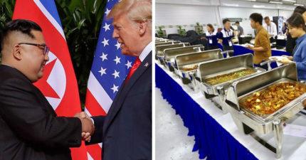 讚嘆新加坡!川金會媒體招待「無限量吃到飽」 海南雞飯一盤一盤沒停吃啊!