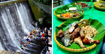 菲律賓最夯瀑布餐廳 泡清涼飛瀑+大啖美食「但一定要用手吃!」