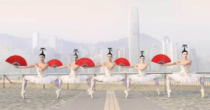 芭蕾舞團攻佔知名地標 「7張超現實藝術照」驚豔全網!