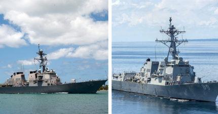 默默挑釁中國!超大驅逐艦「滑過台灣海峽」 台灣就是最美的抗衡棋子