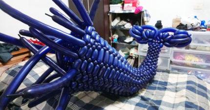 造型汽球「台灣藍鯨」奪世界冠軍!創作者嘆:台灣老闆眼中只值25K