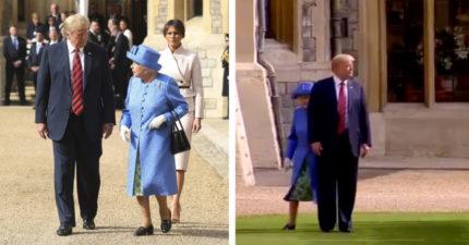 川普見英女王「遲到+擋路」 老人家在後面各種無助...網氣瘋:哪來的粗人啊!