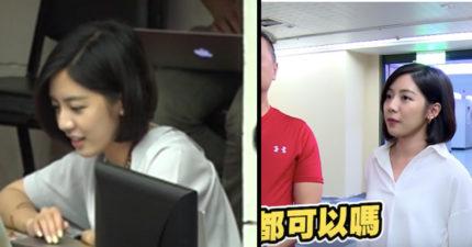 柯P恩人!「學姐」認真筆記畫面曝光 對電腦甜笑秒殺宅男心:謝謝攝影師