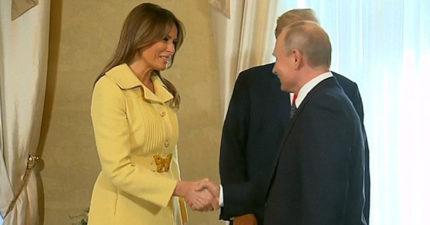 影/普丁太恐怖?美國第一夫人握手後「秒變臉」 網友:女人的直覺最準