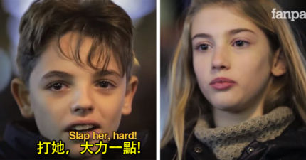 影/被命令「用力打這名女生一巴掌」 小男孩反應證明:這才是真正的人性