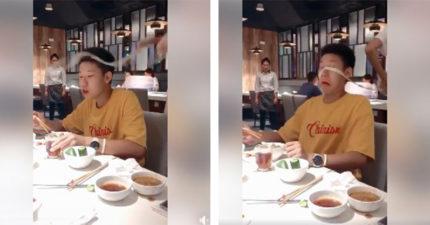 氣氛優雅用餐下一秒「被麵神打臉」 阿弟仔驚恐:上帝在我眼前遮住了簾?