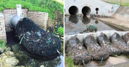 抗污染歷史性一刻!澳洲「一張網」擋300公斤垃圾 網讚:各國應馬上效法