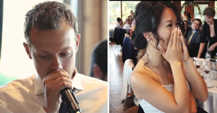 義大利新郎結婚唱「台灣神曲」  新娘聽到家鄉味「秒落淚」網友大推:第一句就想哭QQ