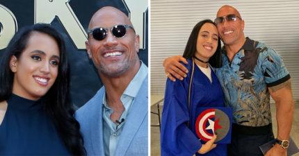 巨石強森參加女兒畢業典禮卻超尷尬 他「被打臉照」被600萬人狂讚:超強!