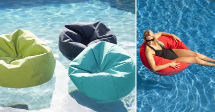 夏天必備「漂浮懶骨頭」爆紅 躺到「泳池裡耍廢」實用度完勝網美神器!