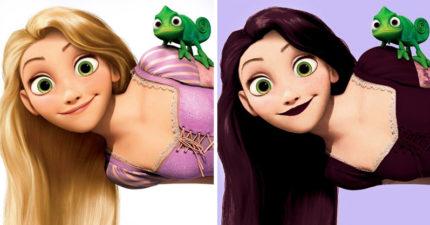 如果迪士尼公主都是「普通高中生」?貝兒造型秒變「陷阱妹」!