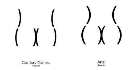 設計師畫出「經典字型變成屁股」的腦洞插畫 網友笑翻:新細明體會長骨刺!
