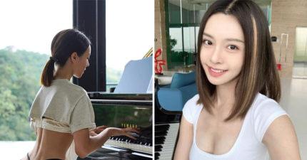 「馬來西亞娜美」氣質彈鋼琴 網看「下半身」快噴鼻血:只有一條線!