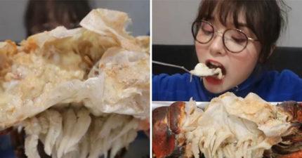為了紅不擇手段!大胃王正妹「挑戰吃腐爛龍蝦」引爭議 曝光近況「外表變化」粉絲超擔心