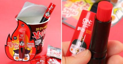 韓推出「辣雞麵潤唇膏」美妝單品 超狂「火焰設計」讓你秒變性感豐唇!