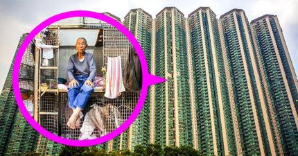 外媒揭「香港蝸居」真實情況!窮人「只能住籠子」還要繳6千房租:腿都伸不直…