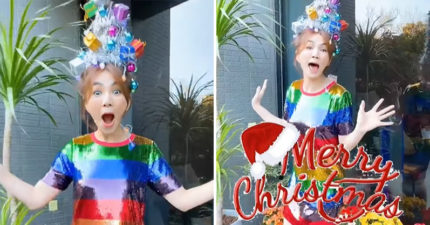 Ella超浮誇「行動聖誕樹髮型」頭頂會發光 全是用真髮做的!