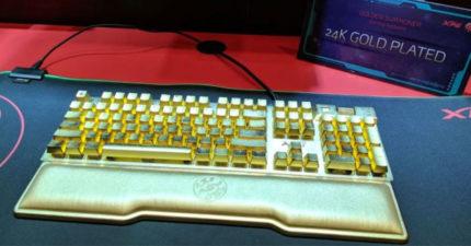 花光財產打電動!國外推「24K金鍵盤」30萬起跳 有錢還不一定買得到