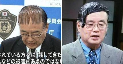 是空氣瀏海?日本公眾人物「髮型教科書」 頭上「3根毛」堅持旁分