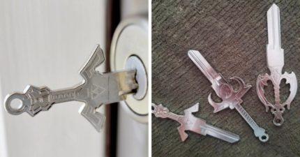 國外推超中二「戰士奇幻鑰匙」 每天開門用「王者劍把」回家都有風!