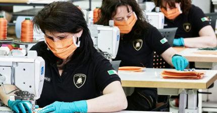 義大利之光!藍寶基尼「用超跑線產口罩」成最強國家隊 造型還超時尚