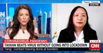 影/美國好奇台灣「怎能不封城」 CNN「專訪唐鳳」:用幽默防疫!