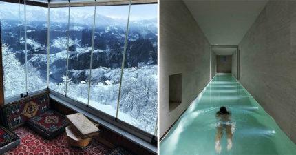 28個「破產也想住一次」的世界最美房間 窗外富士山美到像動畫!