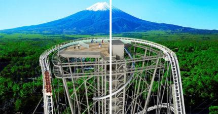 日本推「看富士山新方式」挑戰膽量極限 雲霄飛車還不是最恐怖!