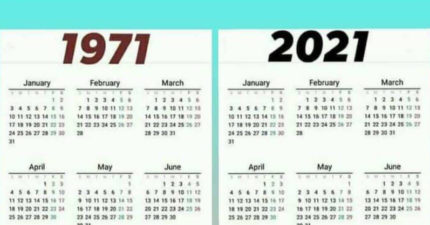50年一遇的?他發現「2021和1971月曆」完全相同 網驚:輪迴