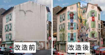 空白牆上神人「超逼真3D塗鴉」 把牆面劈開「直接看到海邊」太夢幻