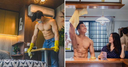 創新「猛男清潔員」到你家服務!「光上身打掃」女網友嗨翻:我很需要